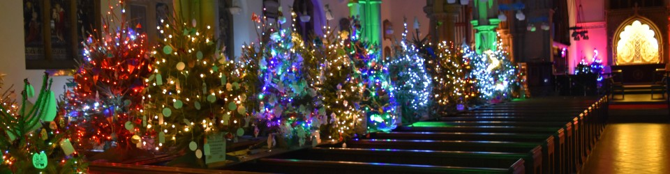 Christmas In England.Christmas Tree Festival 2019 Alverstoke Church Of England