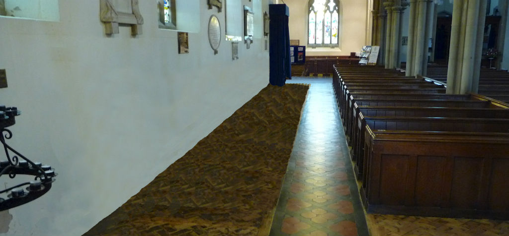 Removal of St.Mary's pews against the walls